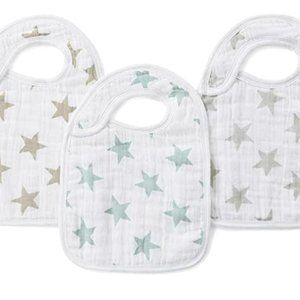 aden + anais classic snap bibs 3-Pack 3-Pack; star